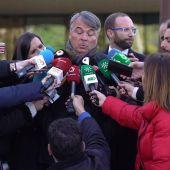 El abogado de 'La Manada' ante los periodistas