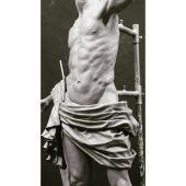Escultura en barro que hizo Martín Nieto del estudio anatómico y ropajes del nuevo Resucitado de Ciudad Real