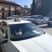 Concentración del sector del taxi en Alcalá de Henares