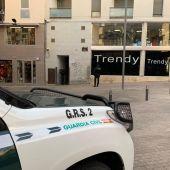 Un vehículo de la Guardia Civil en un operativo antidroga que se desarrolla en Baleares, Barcelona, Lleida y Huesca.