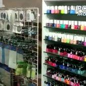 Local de uñas localizado por la Policía Municipal de Madrid