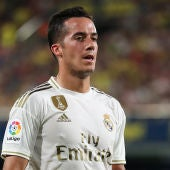 Lucas Vázquez, en un partido con el Real Madrid