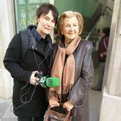 Pepa Pérez Vega, con María Gómez