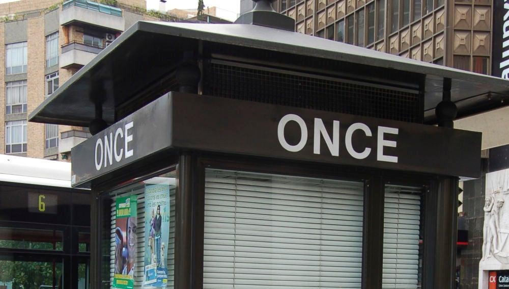 Imagen de archivo de un quiosco de la ONCE