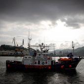 """El buque de rescate humanitario """"Aita Mari"""" en el puerto de Pasaia (Gipuzkoa)"""
