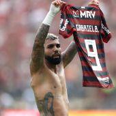 'Gabigol' celebra su gol en la final de la Copa Libertadores.