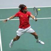 Feliciano López. en la Copa Davis.