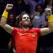 Rafa Nadal, tras ganar las semifinales a Canadá.