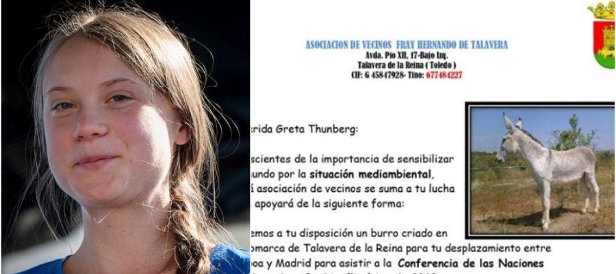 Ofrecen a Greta Thunberg un burro para su desplazamiento de Lisboa a Madrid