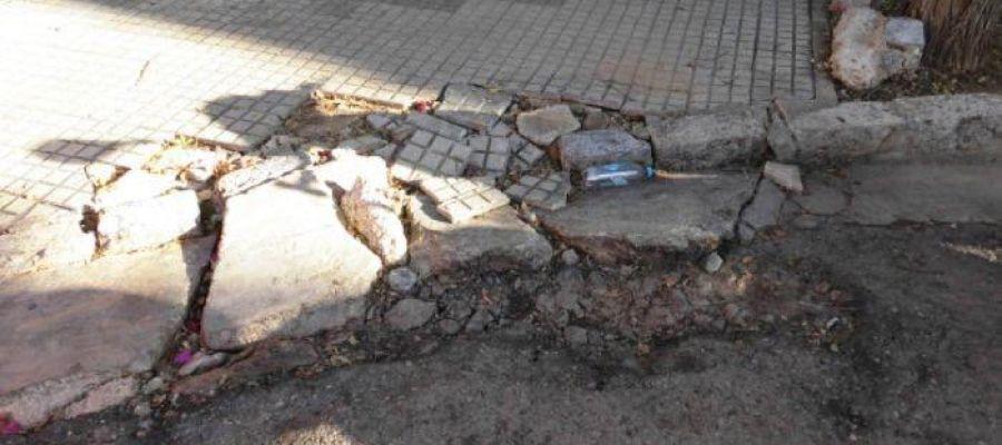 Uno de los desperfectos en pavimientos en Playa de Palma que denuncian los hoteleros.