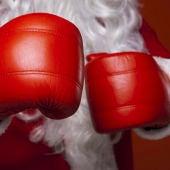 Guantes boxeo Papá Noel