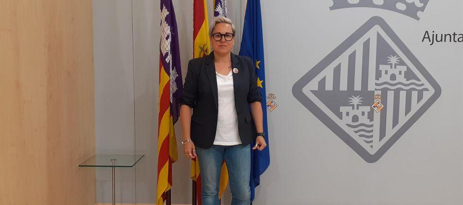 Sonia Vivas en el Ayuntamiento de Palma