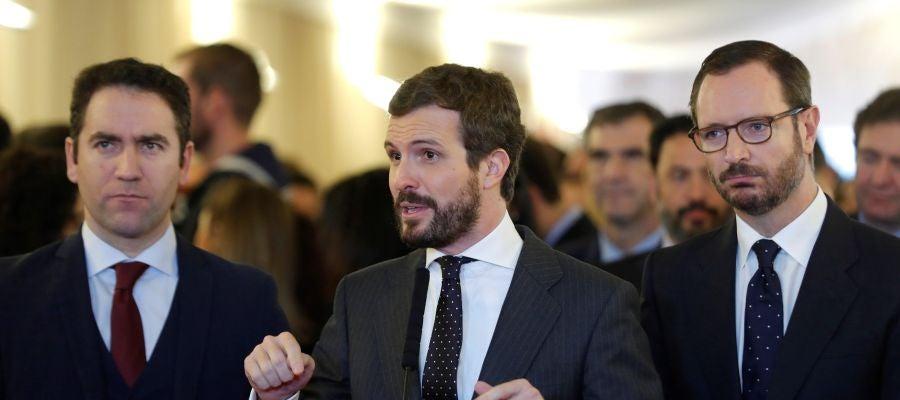 Casado reitera que no apoyará a Sánchez porque ha elegido a