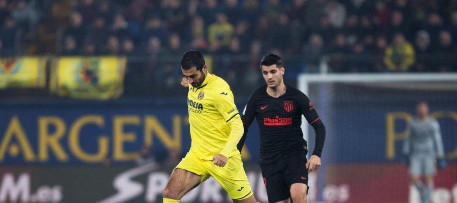 Albiol con Álvaro Morata.