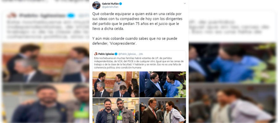 El rifirrafe entre Rufián e Iglesias en Twitter
