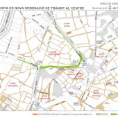Mapa de los cambios circulatorio en el centro de Palma a partir de este 9 de diciembre.