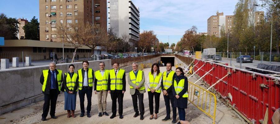 El president de la Generalitat Ximo Puig junto al alcalde de València Joan Ribó han visitado las obras.