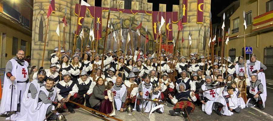 Festeros de Moros y Cristianos de Elda y Petrer en las fiestas de Monforte del Cid.