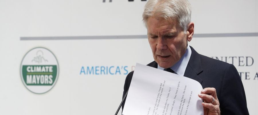 """Harrison Ford reprocha en la Cumbre del Clima la """"falta de valentía"""" de Donald Trump"""