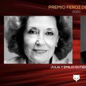 Julia Gutiérrez Caba y Emilio Gutiérrez Caba, premios Feroz de Honor 2020