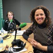 La presidetna del consell de Mallorca, Catalina Cladera, en los estudios de Onda Cero Mallorca.