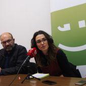 De izquierda a derecha: Felip Sánchez, Aitana Mas y Esther Diez.