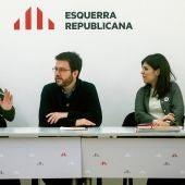 Reunión de la ejecutiva de ERC de cara a la posible investidura de Pedro Sánchez