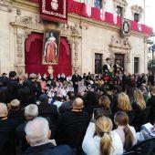 El Alcalde de Palma, José Hila, durante su discurso en la Festa de l'Estendard .