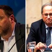 Montaje entre Quim Torra y Oriol Junqueras.