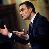 El candidato a la Presidencia, Pedro Sánchez