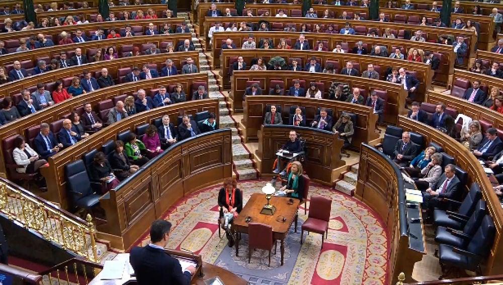 Diputados en el congreso el día de la investidura