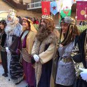 Foto de archivo.Reyes Magos en el Palacio de Altamira de Elche en 2020.