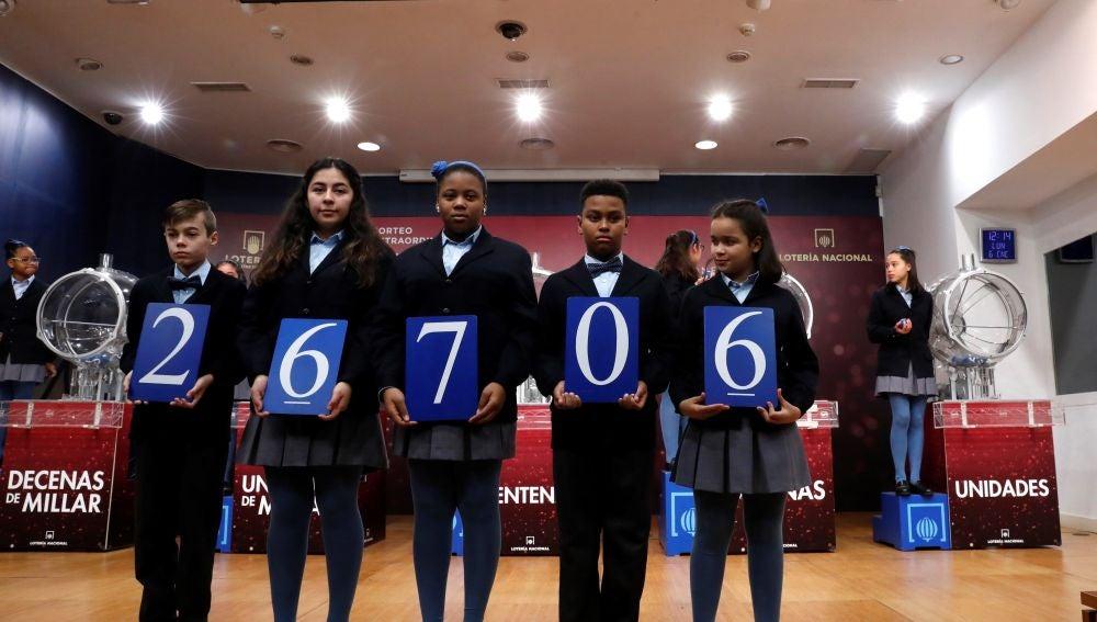 El 26706, tercer premio del sorteo de El Niño