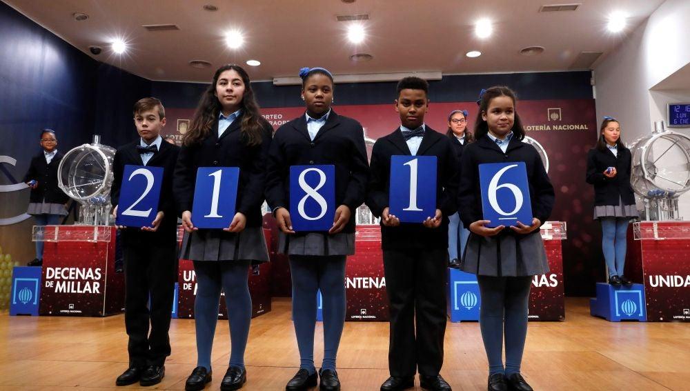 21816, segundo premio del sorteo del Niño