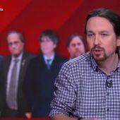 """Pablo Iglesias, sobre un posible referéndum: """"Cuando se llegue a un acuerdo habrá que preguntar a la ciudadanía en Cataluña"""""""