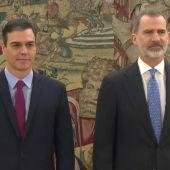 Pedro Sánchez, tras prometer ante el rey Felipe su cargo como presidente del Gobierno