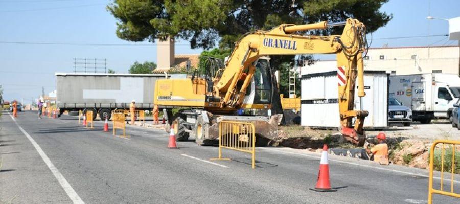 El projecte en la carretera d´Onda contempla  una conducció que connectarà la xarxa del consorci amb el depòsit regulador .