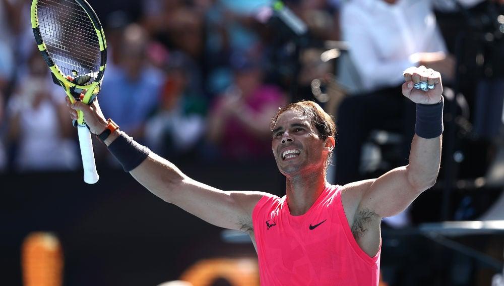 Open de Australia 2020: Rafa Nadal celebra la victoria ante Hugo Dellien
