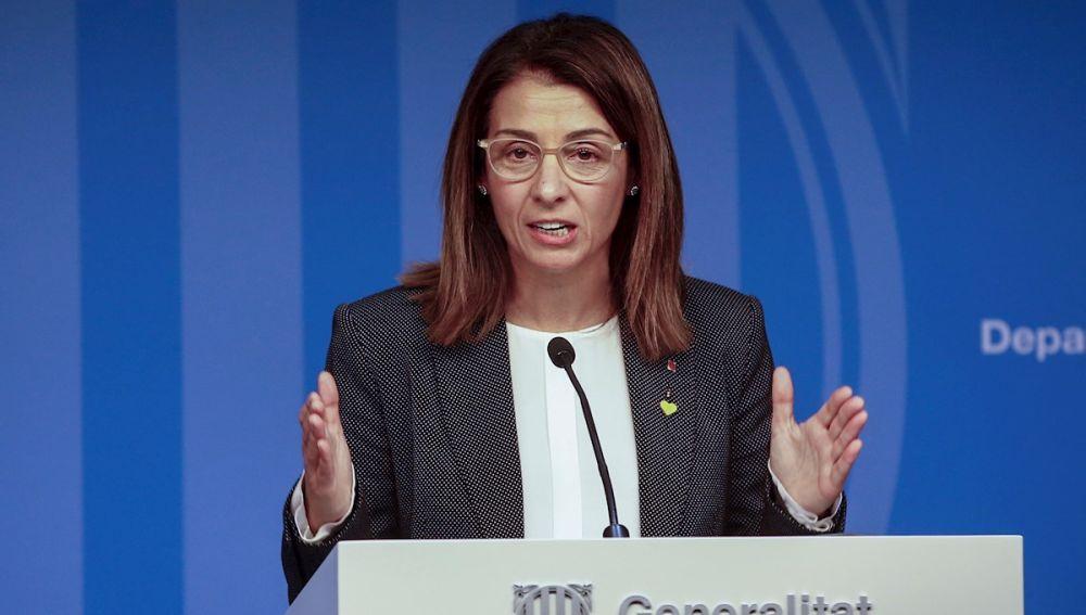 La portavoz del Govern catalán, Meritxell Budó