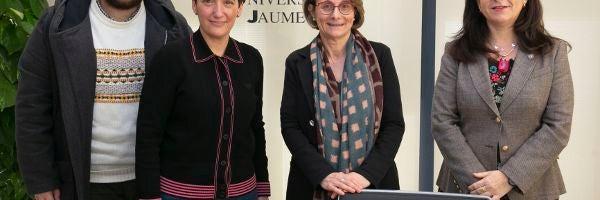 La alcaldesa de Onda visita la Universitat Jaume I
