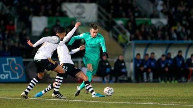 Gareth Bale, en el partido contra Unionistas.