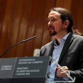 El vicepresidente de Derechos Sociales, Pablo Iglesias