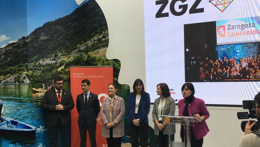 Celebración del día de Zaragoza en FITUR