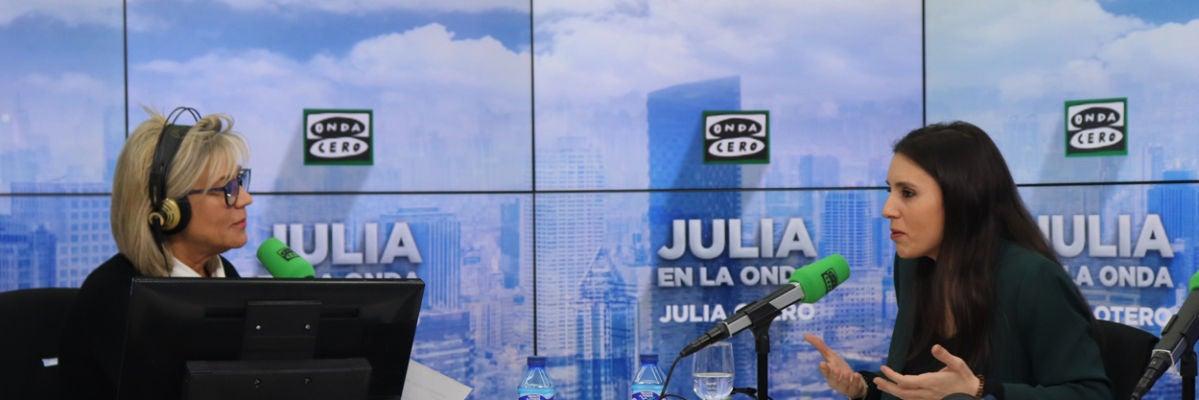 "Irene Montero: ""La reforma laboral se deroga"""