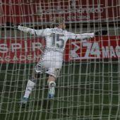 Sergio Benito celebra su gol en la prórroga ante el Atlético de Madrid