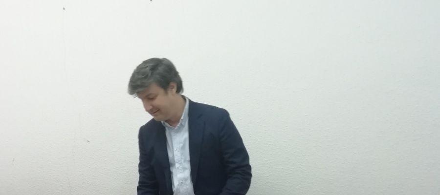Eduardo García-Ontiveros en el Ayuntamiento de Elche.