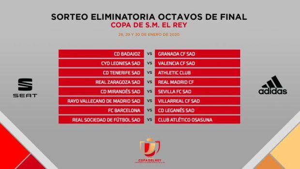 Enfrentamientos de octavos de final de la Copa del Rey