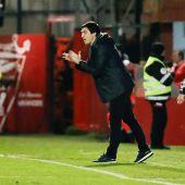 Andoni Iraola, entrenador del Mirandés.
