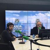 Joan Navarro con Gonzo, en Julia en la Onda