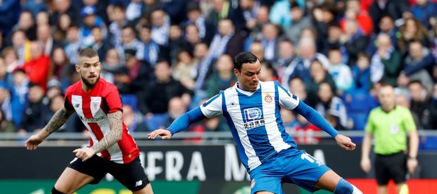 Rául de Tomás, en su estreno con el Espanyol.